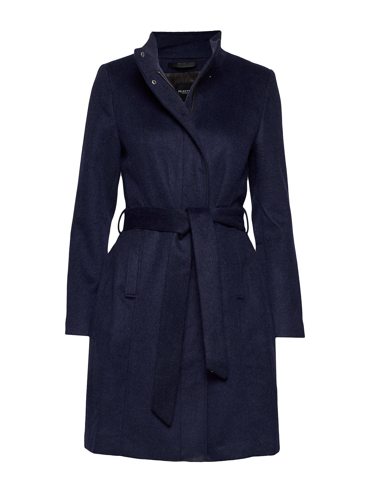 Selected Femme SLFMEA WOOL COAT B NOOS - NIGHT SKY