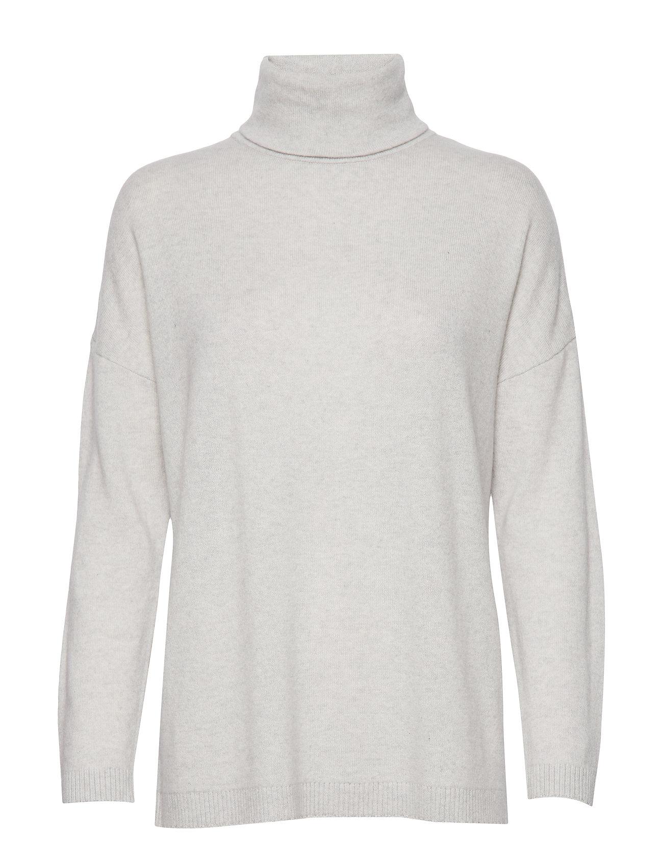 SELECTED Slfeya Cashmere Ls Knit Rollneck B Rollkragenpullover Poloshirt Grau SELECTED FEMME