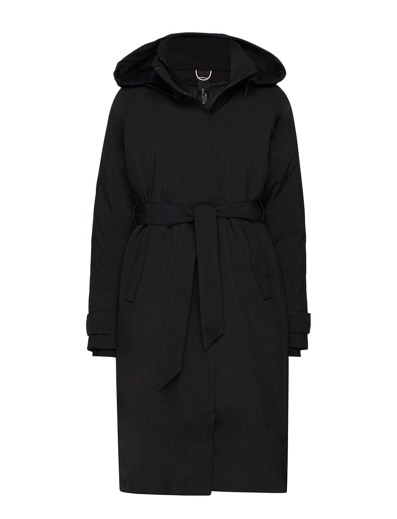 SELECTED Slfrasini Tech Coat B Gefütterter Mantel Schwarz SELECTED FEMME