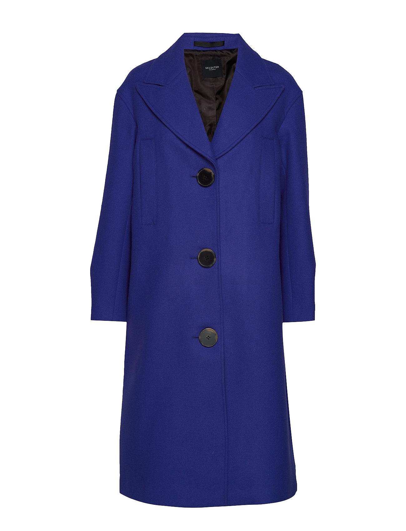 SELECTED Slfoda Wool Coat B Wollmantel Mantel Blau SELECTED FEMME