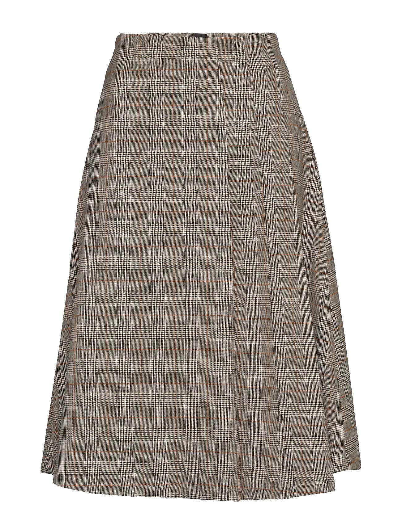 SELECTED Slfnatasha Hw Pleated Skirt B Knielanges Kleid Grau SELECTED FEMME