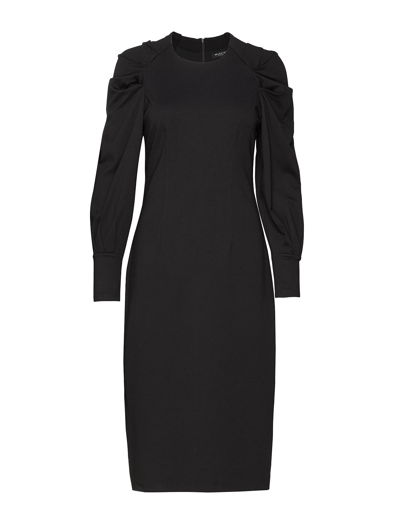 Selected Femme SLFTHORA LOUISE DRESS B - BLACK