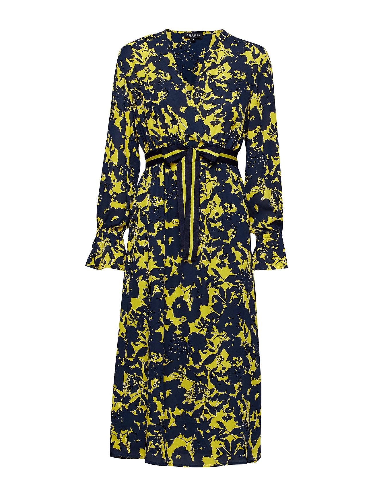 low priced bb9a0 f69d0 30% Sale Slfdesiree Cecilie Ls Dress Ex Kleid Knielang Gelb ...