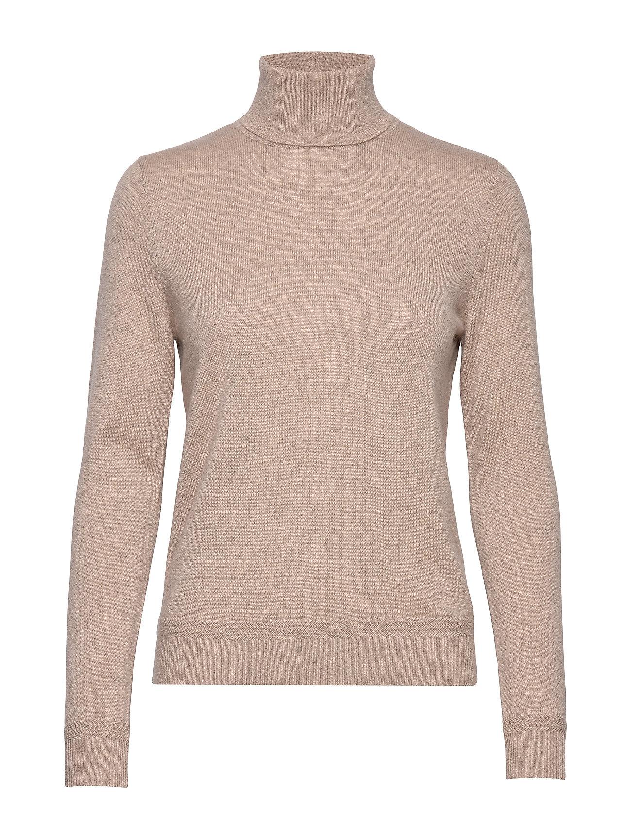 SELECTED Slfaya Zig Ls Knit Rollneck B Rollkragenpullover Poloshirt Beige SELECTED FEMME