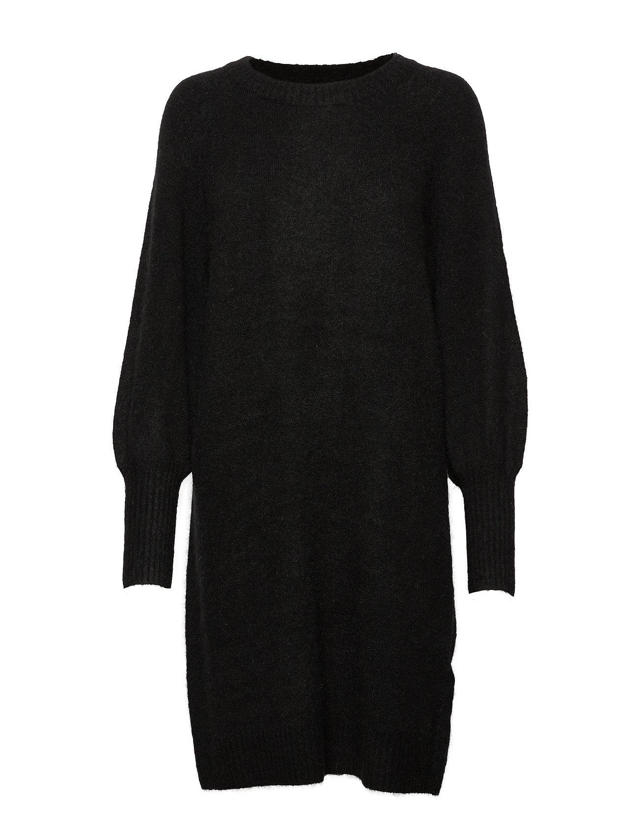 Selected Femme SLFKYLIE LS KNIT DRESS B - BLACK