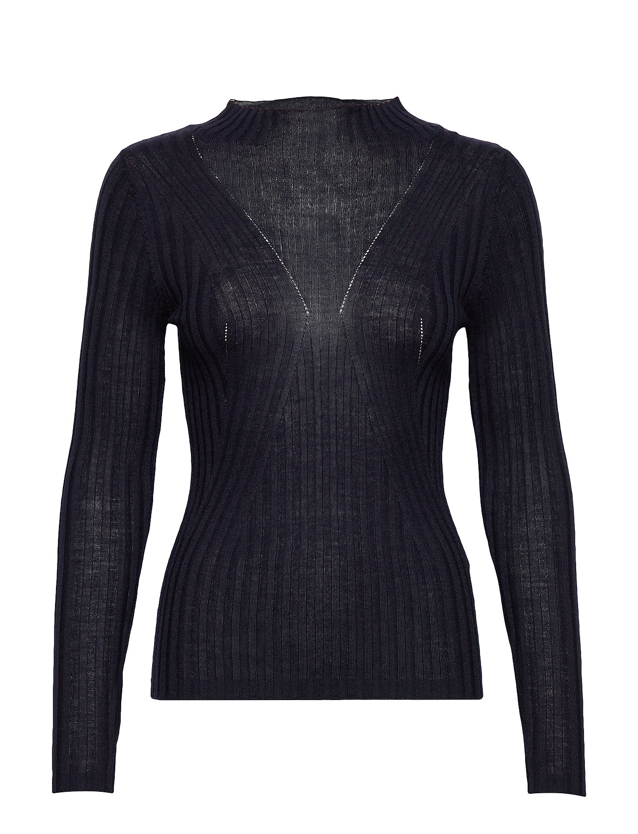 Selected Femme SLFLIMA LS KNIT T-NECK B - NIGHT SKY