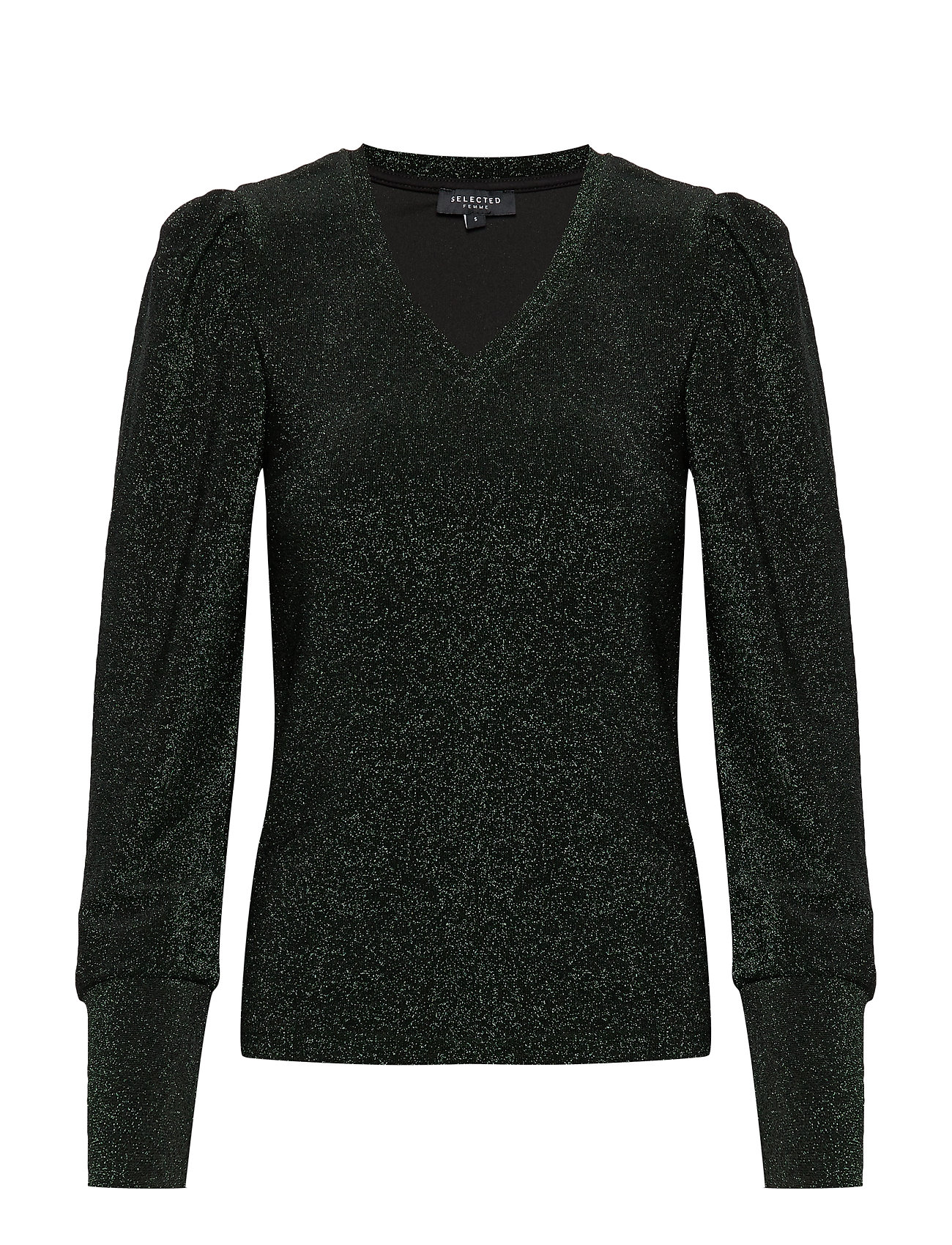 Selected Femme SLFCIA LS TOP B - BLACK