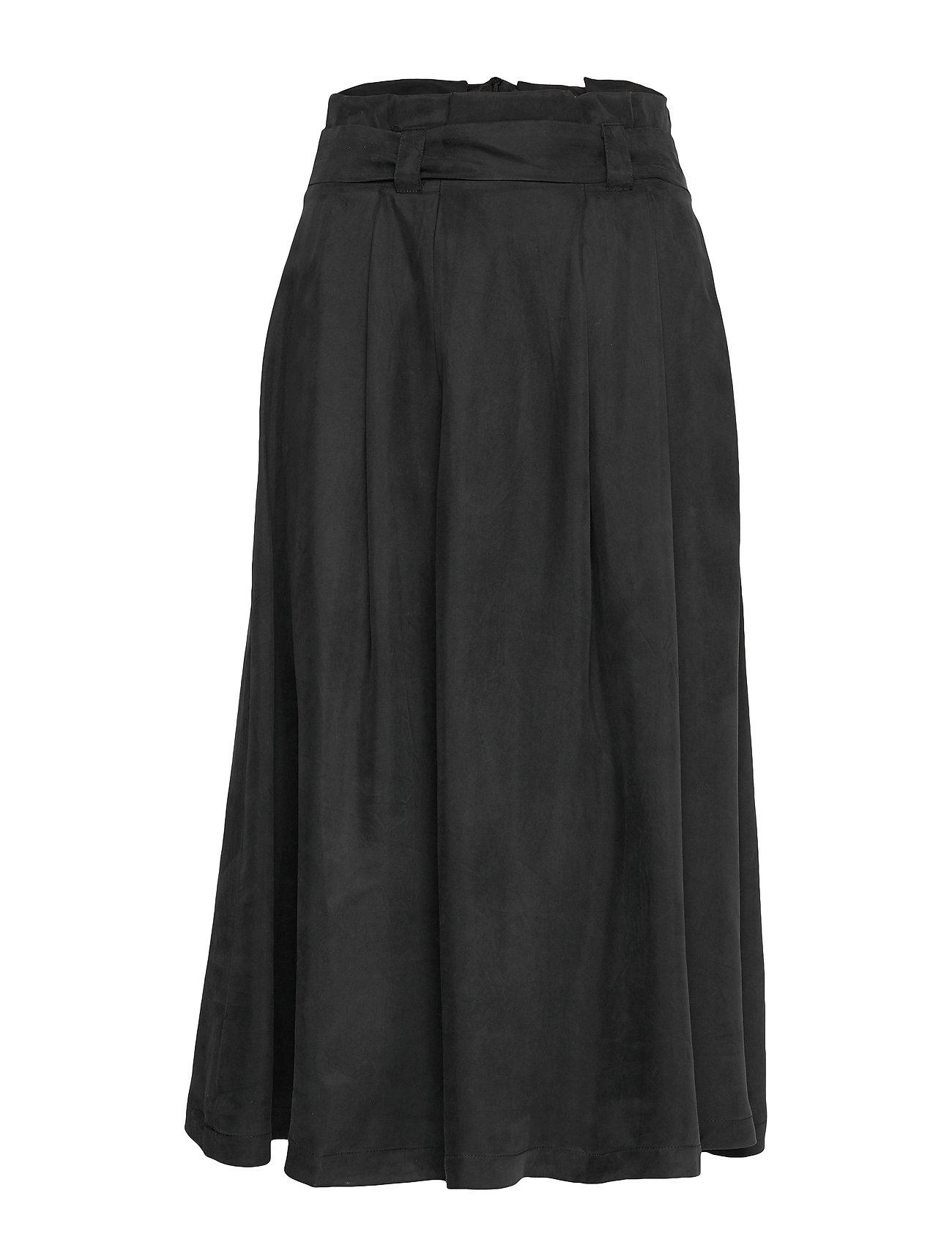 Selected Femme SLFRUTH HW SKIRT B - BLACK