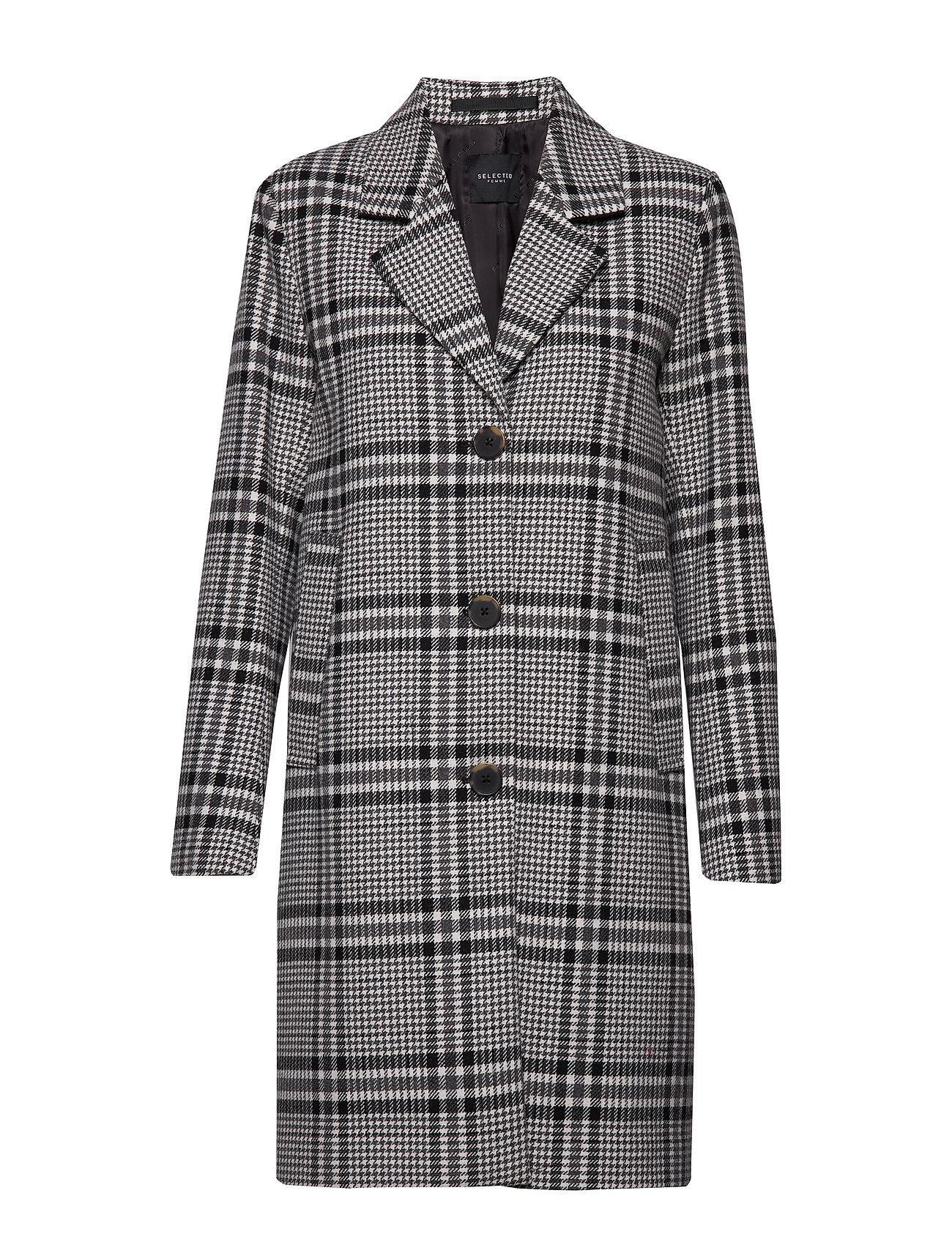 Selected Femme SLFBITTA WOOL COAT B - BLACK