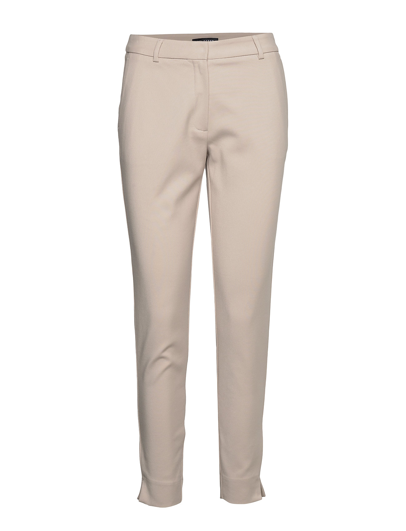 Selected Femme SLFMUSE FIE CROPPED MW PANT- DOVE B - DOVE
