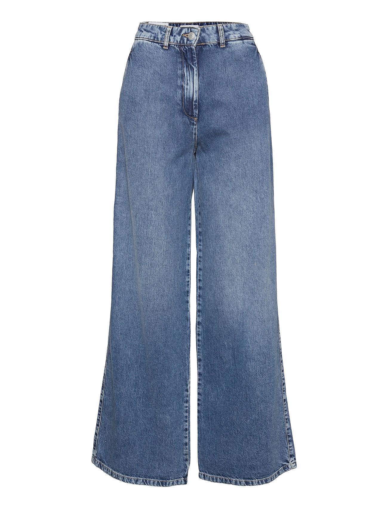 Slfjenni Hw Dark Blue Denim Jeans U Vide Jeans Blå Selected Femme