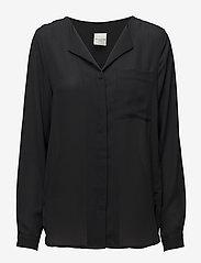 Selected Femme - SLFDYNELLA LS SHIRT NOOS - bluzki dlugim rekawem - black - 0