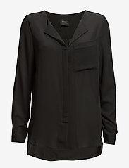 Selected Femme - SLFDYNELLA LS SHIRT NOOS - bluzki dlugim rekawem - black - 1