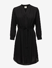 Selected Femme - SLFDAMINA 7/8 DRESS B NOOS - robes courtes - black - 0