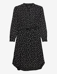 Selected Femme - SLFDAMINA 7/8 AOP DRESS - alledaagse jurken - black - 0