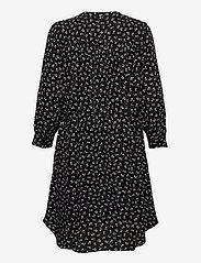 Selected Femme - SLFDAMINA 7/8 AOP DRESS - alledaagse jurken - black - 1