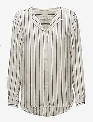 Selected Femme - SLFDYNELLA STRIPE LS SHIRT NOOS - long sleeved blouses - creme - 0