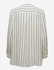 Selected Femme - SLFDYNELLA STRIPE LS SHIRT NOOS - long sleeved blouses - creme - 1