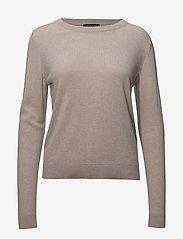 Selected Femme - SLFAYA CASHMERE LS KNIT O-NECK NOOS - cashmere - adobe rose - 0