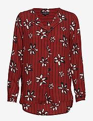 Selected Femme - SLFDYNELLA AOP LS SHIRT B - long sleeved blouses - fired brick - 0