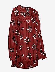 Selected Femme - SLFDYNELLA AOP LS SHIRT B - long sleeved blouses - fired brick - 2