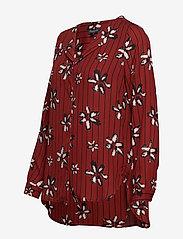 Selected Femme - SLFDYNELLA AOP LS SHIRT B - long sleeved blouses - fired brick - 3