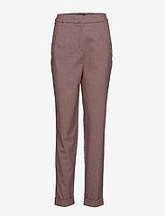 Selected Femme - SLFBEATRICE HW FOLD UP PANT B - bukser med smalle ben - true red - 0