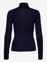 Selected Femme - SLFCOSTA LS KNIT RIB ROLLNECK B - turtlenecks - maritime blue - 1