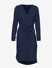 Selected Femme - SLFDYNELLA LS DRESS NOOS - robes midi - dark sapphire - 0