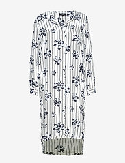 Selected Femme - SLFDYNELLA LS AOP DRESS B - robes midi - creme - 0