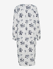 Selected Femme - SLFDYNELLA LS AOP DRESS B - robes midi - creme - 1