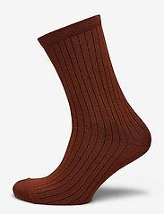 Selected Femme - SLFBOBBY RIB SOCK B - sokken - smoked paprika - 0