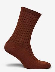 Selected Femme - SLFBOBBY RIB SOCK B - sokken - smoked paprika - 1