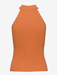Selected Femme - SLFSOLITA SL KNIT TOP B - knitted tops & t-shirts - caramel - 1