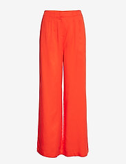Selected Femme - SLFTONIA HW PANTS B - uitlopende broeken - cherry tomato - 0