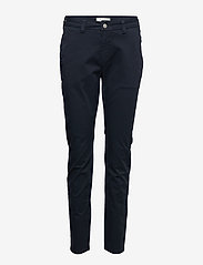 Selected Femme - SLFMEGAN MW CHINO NOOS W - chinos - navy blazer - 0