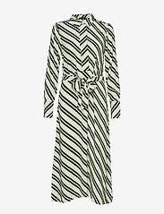 Selected Femme - SLFPIXIE-FLORENTA LS MIDI DRESS B - robes midi - laurel green - 0