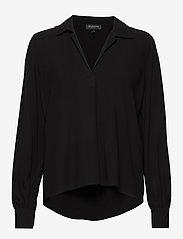 Selected Femme - SLFDAISY LS TOP NOOS - long sleeved blouses - black - 0