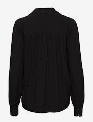 Selected Femme - SLFDAISY LS TOP NOOS - long sleeved blouses - black - 1