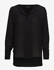 Selected Femme - SLFSTINA-DYNELLA LS SHIRT B NOOS - long sleeved blouses - black - 0