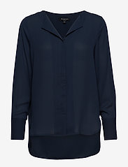 Selected Femme - SLFSTINA-DYNELLA LS SHIRT B NOOS - long sleeved blouses - dark sapphire - 0