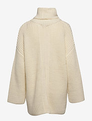 Selected Femme - SLFMILLE LS KNIT ROLLNECK W - poolopaidat - snow white - 1