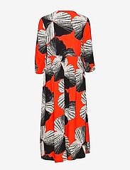 Selected Femme - SLFKAIRI 3/4 MIDI DRESS B - robes midi - orange.com - 1