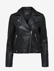Selected Femme - SLFKATIE LEATHER JACKET B NOOS - skinnjackor - black - 0