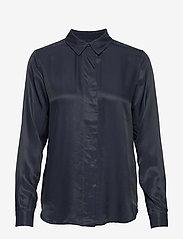 Selected Femme - SLFARABELLA-ODETTE LS SHIRT NOOS - long sleeved blouses - dark sapphire - 0