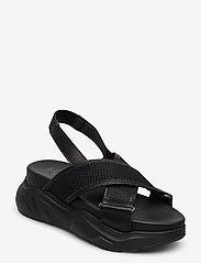 Selected Femme - SLFOLLIE SANDAL B - flat sandals - black - 0