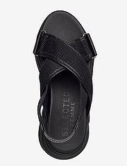 Selected Femme - SLFOLLIE SANDAL B - flat sandals - black - 3