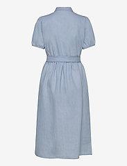 Selected Femme - SLFNOVO SS MIDI DRESS W - robes en jeans - light blue - 1