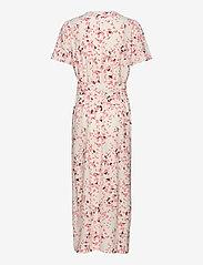 Selected Femme - SLFREBEKKA-DYNELLA 3/4 AOP ANKLE DRESS B - midi dresses - burnt coral - 1