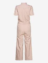 Selected Femme - SLFVIKA SS CROP DENIM JUMPSUIT W - jumpsuits - potpourri - 1